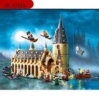 LELE 39144 926pcs Movie Sets 16052 Compatible Legoing Model Building Kits 75954 Hogwarts Castle Hall Blocks Toys 2020 Xmas Gift