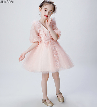 2019 Appliques Flower Girl dresses for Weddings Tulle First Communion Dresses Glitz Ball Gown Pageant Dress mint green flower girl dress for weddings tulle with lace open back ball gown