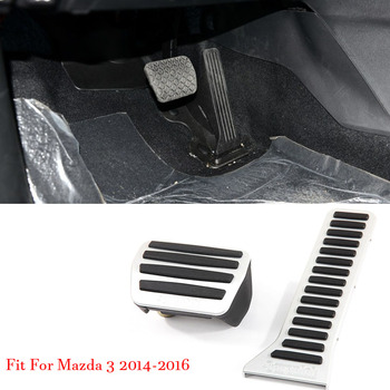 Alloy Accelerator Gas Brake Footrest Pedal Plate Pad Cover Fit For Mazda 3 Axela 2014-2016 AT