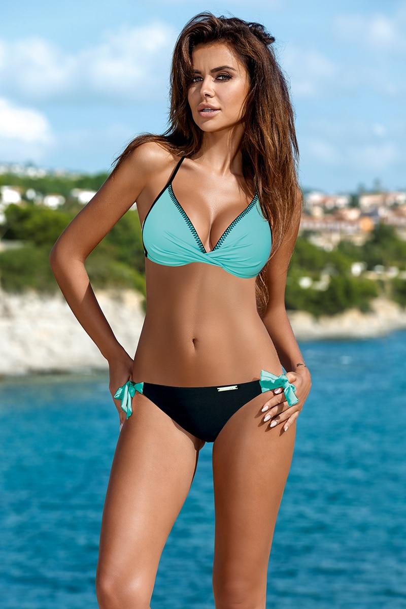 Thong Bikini 2019 Brazil Sexy Push Up Swimsuit Halter Fashion Swim Suit Low Waist Swimming Wear Pad UnderWire Swimwear Women Buy 3