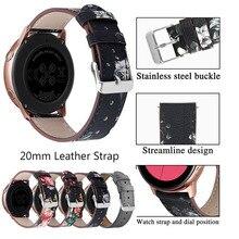 купить 20mm Genuine Leather bracelet strap watch band for Samsung galaxy watch active gear S2 for for Amazfit bip Bracelet sports bands по цене 514.54 рублей
