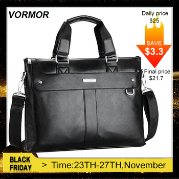 VORMOR 2020 Men Briefcase Business Shoulder Bag Leather Messenger Bags Computer Laptop Handbag Bag Men's Travel Bags