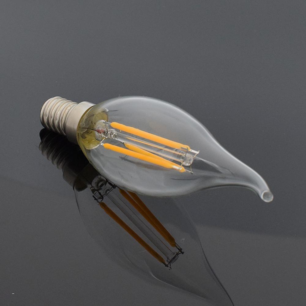 Винтажная лампа накаливания Эдисона C35 220 в 12 Вт 8 Вт 4 Вт Ретро E14 C35L светодиодные лампы с регулируемой яркостью для люстры внутреннего освеще...