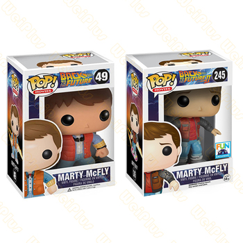 Funko POP BACK TO THE FUTURE 2 Marty Mcfly Dr. Emmett Brown Vinyl Dolls action Figure Collectible Model Toys For Child with box funko pop back to the future 2 marty mcfly dr emmett brown vinyl dolls action figure collectible model toys for child with box