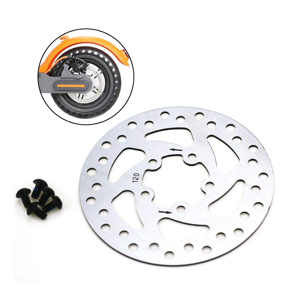 120mm 110mm Brake Pads Disc Rotor Pad Replacement Parts with 5pcs Screws for <font><b>xiaomi</b></font> <font><b>Mijia</b></font> <font><b>M365</b></font> <font><b>pro</b></font> <font><b>Electric</b></font> <font><b>Scooter</b></font> Skateboard image