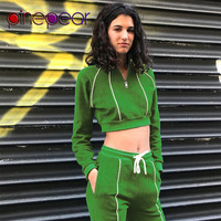 PinePear Reflective Striped Long Sleeve Crop Top + Pants 2 Piece Sportwear Women Casual Gym Clothing Yoga Set 2020 Drop Shipping