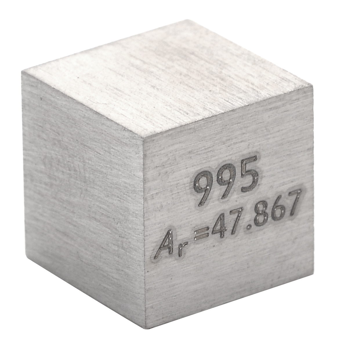 1Pcs 99.5% High Purity Metal Ti Block Pure Titanium Cube 10mm Carved Element Periodic Table Collection For Class Teaching Tools
