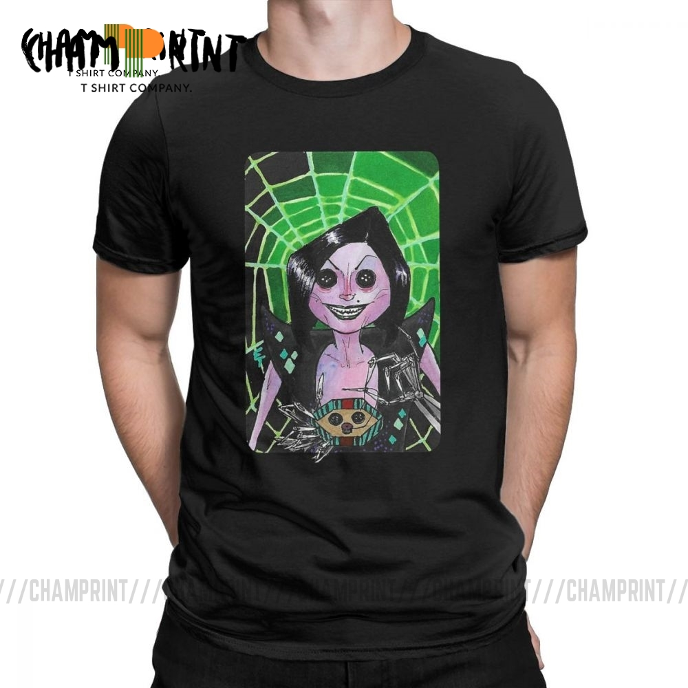 Coraline Casual T Shirts Men Villain Clans Other Mother From Coraline Short Sleeve Tops Beach Tees Pure Cotton T Shirts T Shirts Aliexpress