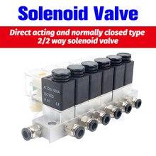 12V 24V 220V Вольт пневматический Электрический электромагнитный клапан 2 способа нормально закрытый воздушный магнитный клапан Картридж электромагнитный клапан