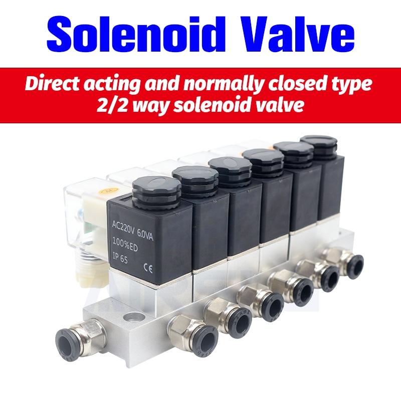 12V 24V 220V Volt Pneumatic Electric Solenoid Valve 2 way Normally Closed Air Magnetic Valve Cartridge solenoid valve()