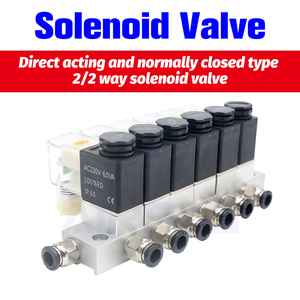 12V 24V 220V Volt Pneumatic Electric Solenoid Valve 2 way Normally Closed Air Magnetic Valve Cartridge solenoid valve()