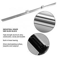 2pcs SBR16 1000mm Linear Slide Rail Shaft + 4pcs SBR16UU Baring Slide Block