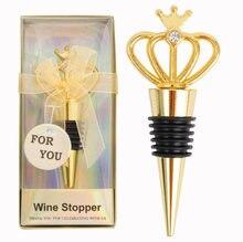 European Style Bottle Cork Wedding Crown Wine Bottle Stopper Metal Hotel Decoration Gifts Kitchen Gadget Bar Tool Accessories