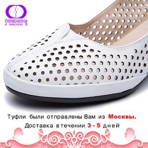 Image 2 - AIMEIGAO ฤดูใบไม้ร่วงฤดูใบไม้ผลิ SLIP บนรองเท้านุ่มหนังส้นสูง Casual รองเท้าแตะรองเท้าแตะรองเท้าส้นสูงปั๊ม