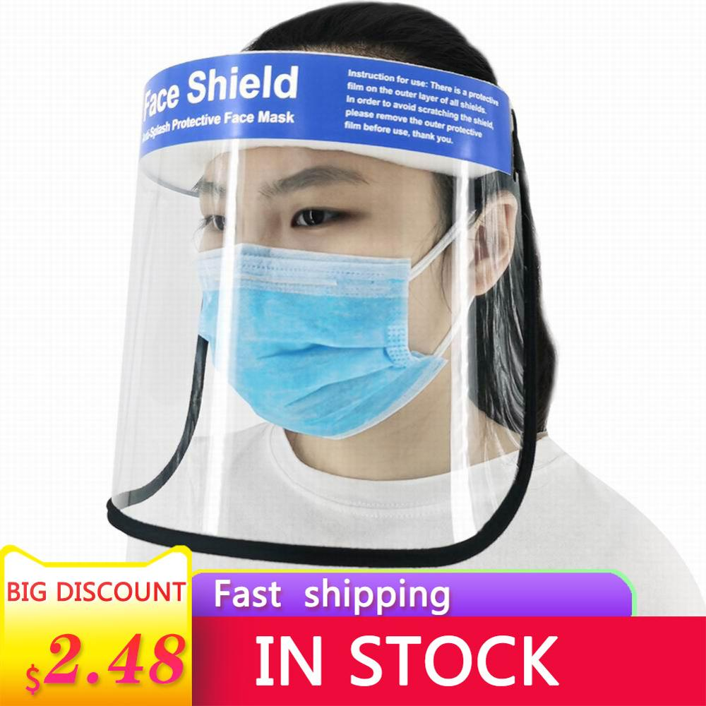 Transparent Protective Face Shield Mask Dust-Proof Oil-Proof Anti-Splash Face Protection Mask Safety Visor