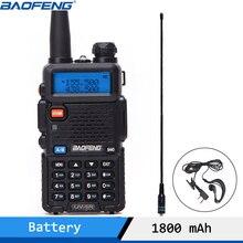 Baofeng UV 5R walkie talkie profissional cb estação de rádio baofeng uv5r transceptor 5 w vhf uhf portátil uv 5r caça presunto rádio