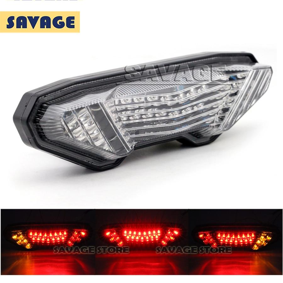 For YAMAHA MT-09 Tracer / FJ-09 2015 2016  Motorcycle Integrated LED Tail Light Brake Turn signal Blinker Lamp Clear