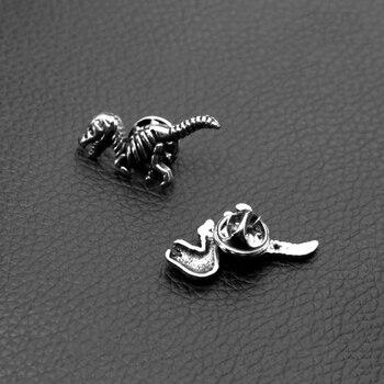 2 шт., Металлическая Булавка для лацкана с динозавром