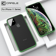 CAFELE Mobile Phone Case for iPhone 11 pro MAX Cover Soft TPU + PC Back Cases Ultra Thin Apple shell