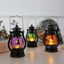 Halloween decoration New Pumpkin Light Witch Portable Small Oil Lamp LED Night Decoration Bar KTV Props