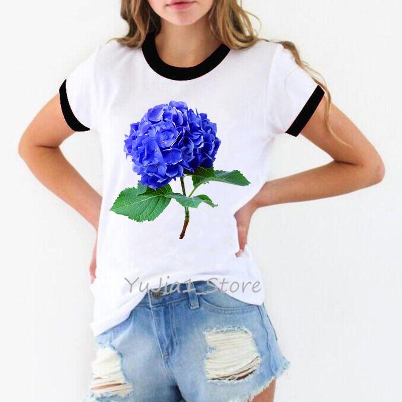 Trend t-Shirt,Aquarelle Blossoming Petals Fashion Personality Customization