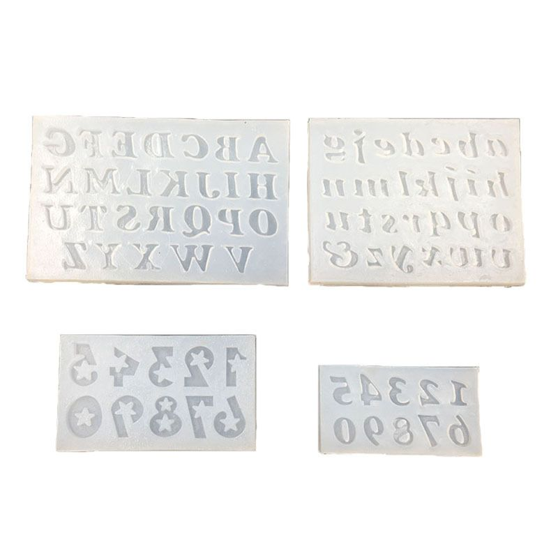 Handmade Alphabet Letter Number Pendant Message Resin Mold Epoxy Resin Mold Jewelry Making Tools