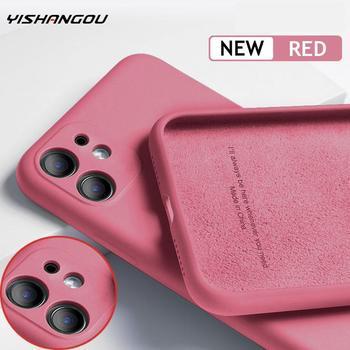 Перейти на Алиэкспресс и купить Роскошный оригинальный силиконовый чехол для iPhone 11 Pro SE 2 с полной защитой, мягкий чехол для iPhone X XR 11 XS Max 7 8 6 6s