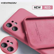 For iPhone 11 12 Pro SE 2 Case Luxury Original Silicone Full Protection Soft Cover For iPhone X XR 11 XS Max 7 8 6 6s Phone Case
