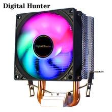 2 Heatpipes REFROIDISSEUR DE PROCESSEUR Radiateur De Refroidissement Du Vent 3PIN 4PIN PWM POUR Intel 1150 1155 1156 1366 2011 X79 X99 AM2/AM3/AM4 Ventilador