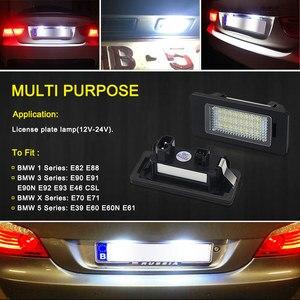 Image 4 - 2 PCS License Plate Light  Led Number Plate Holder Lamp No Error For BMW E39 E60 E60N E61 E90 E91 E90N E92 E93 E46 CSL E82