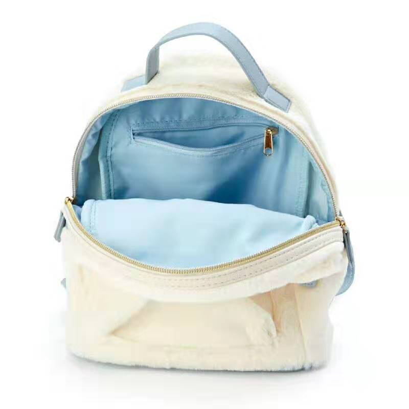 Image 5 - Cinnamoroll My Melody Small Plush Backpack Cute Cartoon Ears Pink  Leather Back Pack Mini Backpack for Teenage Girls KnapsackBackpacks