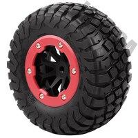 INJORA 4PCS RC Car Beadlock Rubber Tires Wheel Rim Set for 1/10 Short Course Truck Traxxas Slash 4x4 VKAR 10SC HPI 4