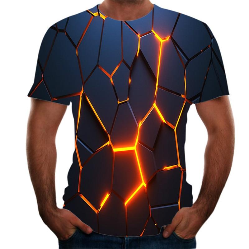 Men's Women's Short Sleeve T-shirt 3DT Printing Fantasy Shirt 3D Printing Hip Hop Casual T-shirt 2021 New