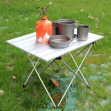Outdoor-Table Aluminum-Alloy Folding Ultralight Picnic Camping-Table BBQ for Family Party