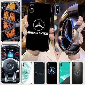Luxury Mercedes Benz AMG Car Soft black TPU black Phone Case Cover Hull For iphone 5