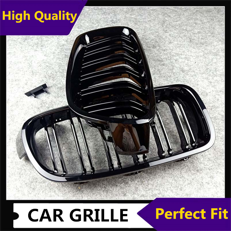 1 Pair <font><b>F30</b></font> Car Styling <font><b>Grill</b></font> M3 Style F31 Kidney Black Replacement Grille For BMW <font><b>F30</b></font> F31 2012+ 320i 325i 328i 335i Gloss Black image