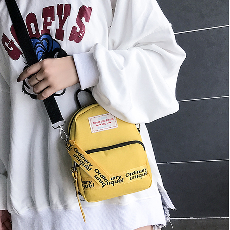Backpack Women Oxford Waterproof 2019 Fashion Brand Letter Small Square Bags High	Quality For Teenager Girls Mini Bag Backpack