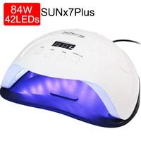 84/54/24W Pro lampa UV lampa LED do lampa do suszenia paznokci do wszystkich żeli polski słońce światło podczerwone wykrywania 10/30/60s zegar inteligentny do Manicure