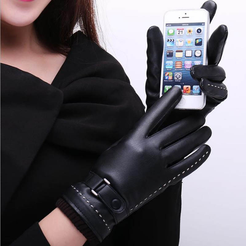Calymel Touch Screen Winter Gloves For Women Gloves For Wan Waterproof Warm Gloves Winter Zipper Riding Gloves