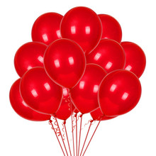 10Pcs/Lot 12inch 2.8g Red Latex Balloon Inflatable Air Balls Wedding Decoration Birthday Party Decorations Kids Float Balloons стоимость