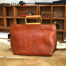 EUMOAN New handbags fashion retro leather rose imprint ladies diagonal handbag mini shoulder bag