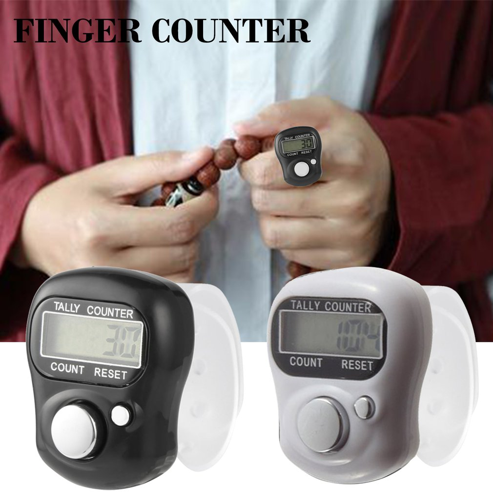 1 pcs electronic digital counter mini LCD electronic pedometer random color handheld ring marking plastic counter drop shipping