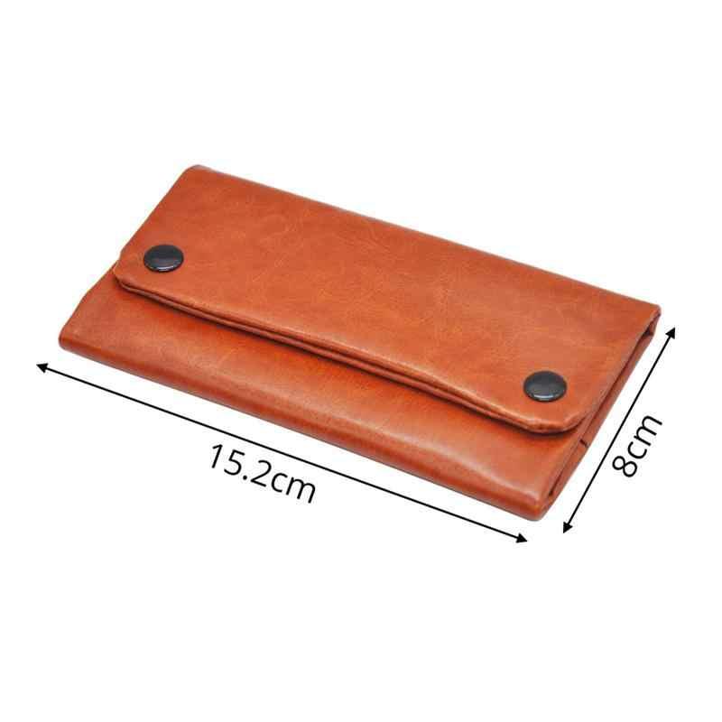 แบบพกพายาสูบหนังกระเป๋าบุหรี่ Rolling ท่อยาสูบยาวส่วนกระเป๋าสตางค์กระเป๋ายาสูบกระเป๋า