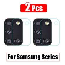 2 Pcs de la cámara de vidrio protector para Samsung Galaxy M51 2020 M31 M31S M30 M20 M11 A11 A20E A21 A21S A30S A31 A41 A42 A51 A70S A71