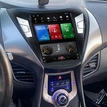 Autoradio Android 10, 4G LTE, Navigation GPS, lecteur multimédia, DVD, stéréo, Type Tesla, pour voiture Hyundai ELANTRA (2011, 2012, 2013)