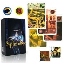 Splendor kart oyunları tam ingilizce sürümü ev partisi için yetişkin finansmanı aile oyun kartları hediyeler