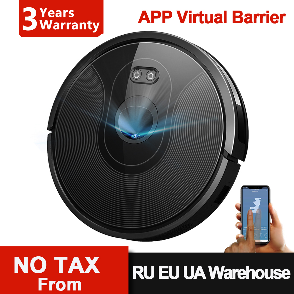Robot Vacuum Cleaner ABIR X6, Visual Navigation,3200pa Suction, App Virtual Barrier,Draw Cleaing Zone,Ideal for Pet Hair Carpet