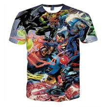 Cloudstyle Comic Super Hero T-shirt Men 3D Printed Joker Batman Short Sleeves tshirt Casual T Shirt Male Streetwear Plus 5XL