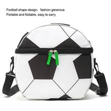 Insulated Football Lunch Bag Waterproof Portable Meal Food Box For Kids Boys Girls(China)