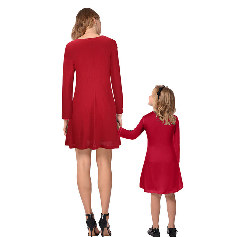 Mommy-and-me-family-matching-mother-daughter-dresses-clothes-Christmas-mom-dress-kids-child-outfits-mum (4)